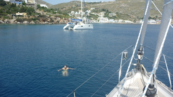 First swim of the season - Pandeli